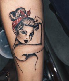 pin up girl tattoo Disney Tattoo – Top Fashion Tattoos Pin Up Girl Tattoo, Girl Power Tattoo, Pin Up Tattoos, Girly Tattoos, Leg Tattoos, Body Art Tattoos, Small Tattoos, Movie Tattoos, Traditional Tattoo Pin Up Girl