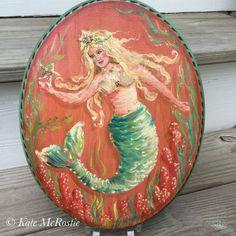 Mermaid art  mermaid decor  original  by KateMcRostieHandmade