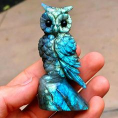 Large Carved Labradorite Perched Owl Photo: ExoticCrystals Amazing Geologist