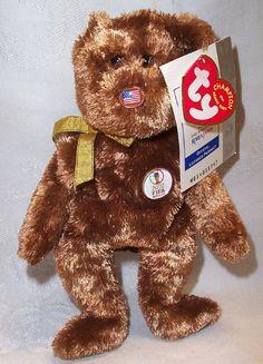 Ty Beanie Baby Bear United States Champion 2002 FIFA World Cup Beanie Baby  Bears ef05f5e73a0e