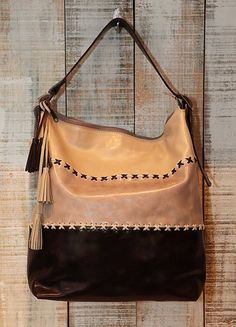 Beige Bucket Bag Lage Leather shoulder bag Oversized by Percibal, $250.00