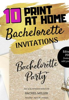 10 Ridiculously Cute Bachelorette Party Invitations You Can Print At Home - The Swag Elephant Rachel Miller, Bachelorette Party Invitations, Elephant, How To Plan, Hens Party Invitations, Elephants, Bachelorette Party Invites