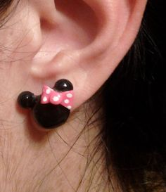 Minnie  Mouse Studs by DaintyGeekery on Etsy