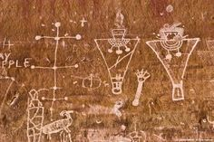 Utah Petroglyphs in light of the Skinwalker Phenomena., page 1 Ancient Aliens, Ancient Art, Ancient History, Art History, Native Art, Native American Art, Cave Drawings, Ancient Mysteries, Art Sites