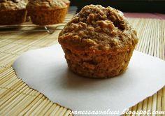 Whole Wheat Apple Oatmeal Muffins