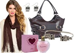 """Beautiful Python Embossed Handbag 14.5""""W x 10""""H x 5.5""""DMocha Shimmering Scarf with FringeGorgeous Owl Jewelry And the cherry on top is a scent that expresses an aura of strength and beauty, glamour and confidence! - $54.00"""