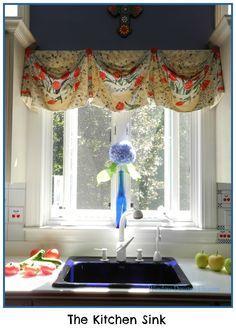 A Peek At My Kitchen Sink. I LOVE Color! Award Winning Window Treatments