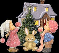 Tulosta vintage joulukuva