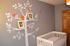 """pops of orange. it would be nice to have something a little less """"nursery"""" though."""
