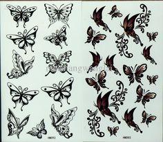 Temporary Tattoos 50pcs/lot Tattoo Stencils For Body Waterproof News Butterfly Tattoos