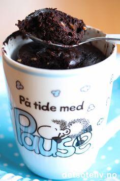 'Nugattikake i kopp Blog Images, Eat Cake, Fun Facts, Sweets, Mugs, Baking, Tableware, Desserts, Food