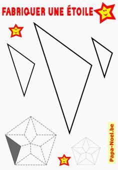 Pentagone faire une toile de no l 5 branches jeux - Modele etoile 5 branches a imprimer ...