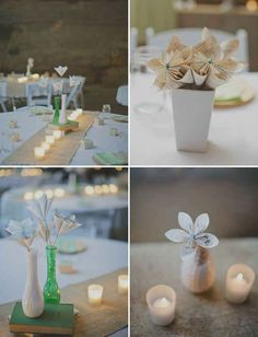 Get creative with paper flowers.