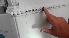 For the love of white: Painting Furniture Tutorial; home-made chalk paint and rub & buff