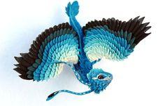 Little blue feather dragon by hontor.deviantart.com on @deviantART