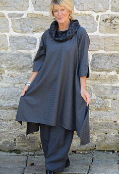 Paris Tunic in fine wool, £265 over New Penny Trousers in linen £225.