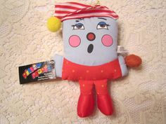Vintage 1980's Pillow People Plush Toy Ornament Bedtime Sleepy