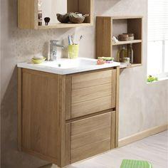 meuble de salle de bains fjord | leroy merlin | sdb | pinterest ... - Parquet Teck Salle De Bain Leroy Merlin