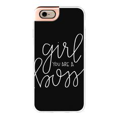 iPhone 6 Plus/6/5/5s/5c Metaluxe Case - Girl Boss - Black ($50) ❤ liked on Polyvore featuring accessories, tech accessories, iphone case, apple iphone cases and iphone cover case