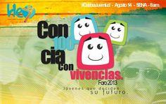 Foro Conciencia con vivencias, una iniciativa local que ahora es apoyada por la oficina de la juventud de la presidencia de la republica de colombia, COLOMBIA JOVEN.
