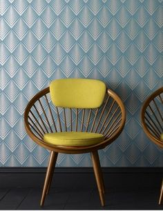 A Gallery of Wallpapers in Cool Hues This one: Graham and Brown, Soprano, Teal