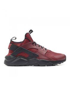 813165bfd714 Nike Air Huarache Run Ultra Red Black Shoe Mens Sale