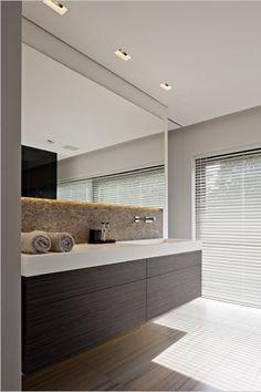 Bathroom furniture black with large mirror