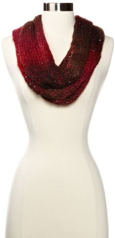 red sequin infinity scarf