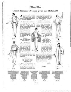 Deshabillé / Tunique antique (La Femme de France 19/03/1922)