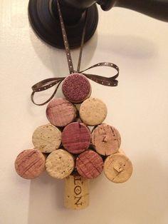 Wine cork holiday ornaments by AshleyColeDesigns on Etsy