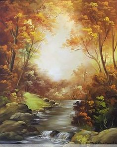 Autumn – Nancy Morrison-Phillipson – Join the world of pin Watercolor Landscape, Landscape Art, Landscape Paintings, Watercolor Art, Cool Landscapes, Beautiful Landscapes, Beautiful Paintings, Oil Painting Pictures, Pictures To Paint
