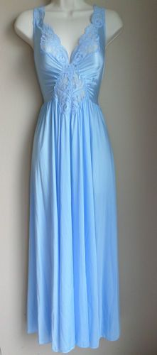 Vintage Olga Nightgown Blue Retro Spandex XL XXL Plus RARE Lingerie Couture  Gown  12dd7cbe0