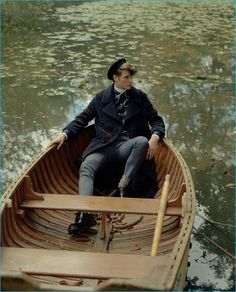 Marc André Turgeon takes a boat ride in Louis Vuitton for the pages of The Week.