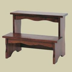 Redux Antique Hardwood Bed Step Stools - Heritage Colonial Bed Step Stool. Caringly hand-built & hand-finished by Mennonite & Amish craftsmen. Full range of sizes available. Choose from premium Oak, Maple, or Cherry hardwoods and a broad selection of durable modern finish colors. Find out more about the solid hardwood Heritage Colonial Bed Step Stool at http://www.mennonite-furniture-studios.com/Amish-Heritage-Colonial-Bed-Step-Stool-(2-Steps)/