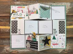 "Sherry""s Stamped Treasures: Mini Accordion Album Card"