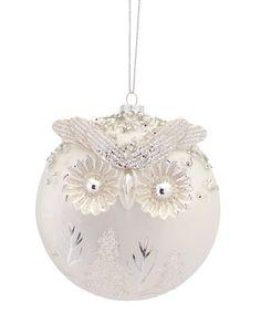 Pack of 6 Woodland Owl White and Silver Glass Ball Christmas Ornaments - 31488063 Christmas Owls, White Christmas, Christmas Tree Ornaments, Christmas Crafts, Christmas Decorations, Holiday Decor, Xmas, Seasonal Decor, Christmas Ideas