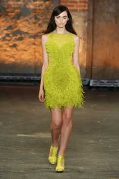 2012 spring by christian siriano electric citron  fashion  #colortrend honeysuckle tee