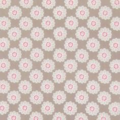 Maisy Taupe Gloss Vinyl Coated Tablecloth (Selectable Length)   Just Wipe