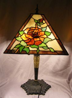 Stunning Edward Miller Lamp with Leaded by coincidentaldiscover 1f04e1b8729