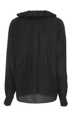 Silk Shirt With Pleated Collar by Sonia Rykiel for Preorder on Moda Operandi