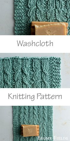 Washcloth Knitting Pattern + Video Tutorial + Using Bulky Cotton Yarn {this yarn is super soft, which makes a great washcloth for a baby shower gift} by Brome Fields Knitting Patterns Free, Free Knitting, Knitted Washcloths, Baby Washcloth, Knit Shrug, Tree Patterns, Washing Clothes, Knitting Projects, Fields