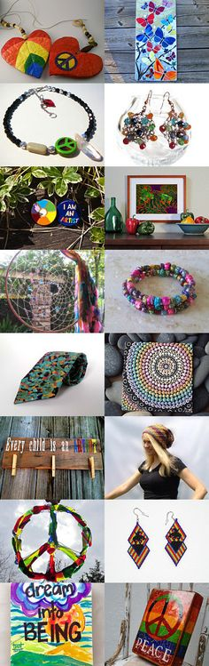 Heart of Peace and Rainbows by Dagmar Rainbowserpent on Etsy--Pinned+with+TreasuryPin.com