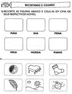 Rosangela.Aprendizagem: Alfabetização - Ditado Recortado