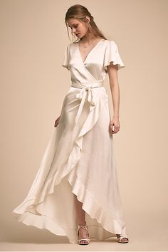 BHLDN has got you covered with rehearsal dinner dresses for the bride! Shop the perfect white rehearsal dinner dress and a beautiful start to your festivities! Ivory Bridesmaid Dresses, Bride Dresses, Dinner Outfits, Dress For Dinner, Evening Dresses, Formal Dresses, Wrap Dresses, Little White Dresses, Wedding Dress Styles