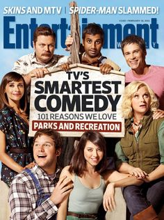 Entertainment Weekly cover featuring the cast of Parks & Recreation.