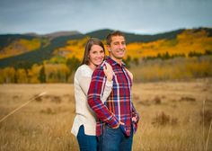 Kenosha Pass Colorado Fall Engagement Fall Colors in Mountains