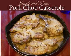 Pork Chop Casserole is baked in creamy soups mixed with carrots and potatoes. Absolutely easy to make, flavorful and satisfying.