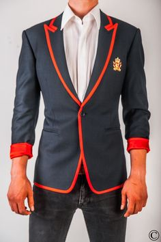 Signature Club Blazer with Red Stripe by Norwegian Couture.
