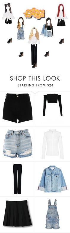 """""""《 COMEBACK SPECIAL 》Music Core : Black Swan_All Night"""" by chloeemylee-xxi ❤ liked on Polyvore featuring River Island, Topshop, STELLA McCARTNEY, Frame, WithChic and Marc Jacobs"""
