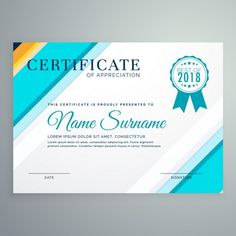 Free Vector Certificate Of Achievement Templates HttpWww